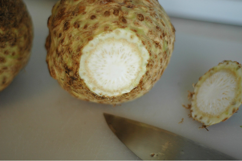 How To Prepare Celeriac - Cut Off Ends