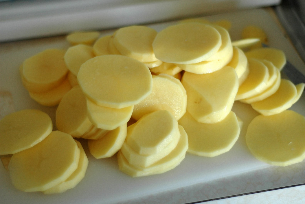 Sliced Yukon Gold Potatoes