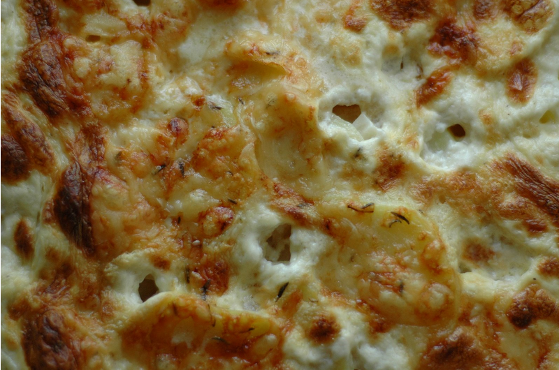 Cheesy Celeriac Potato Au Gratin
