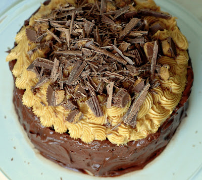 Chocolate Peanut Butter Cake | CafeJohnsonia.com #cake #peanutbutter #chocolatecake #recipe