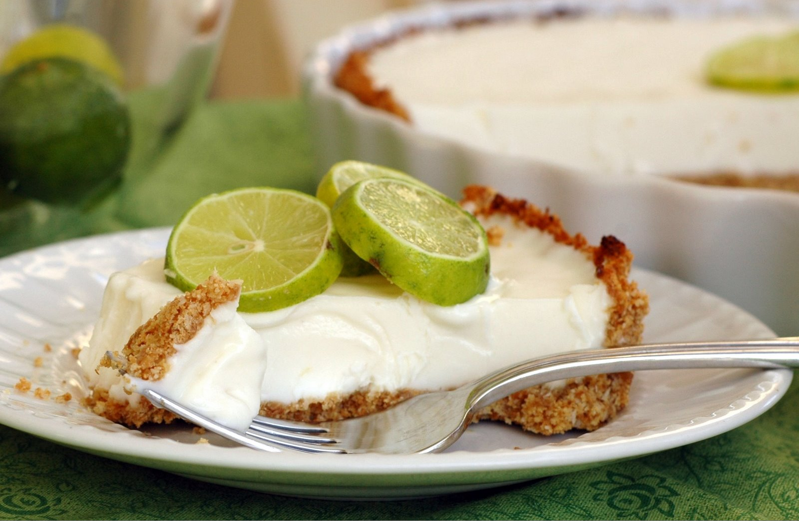 Frozen Coconut Key Lime Pie