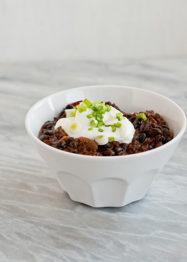 homemade chorizo black bean chili