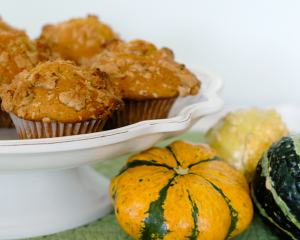 Pumpkin Muffins with Pecan Streusel | Cafe Johnsonia