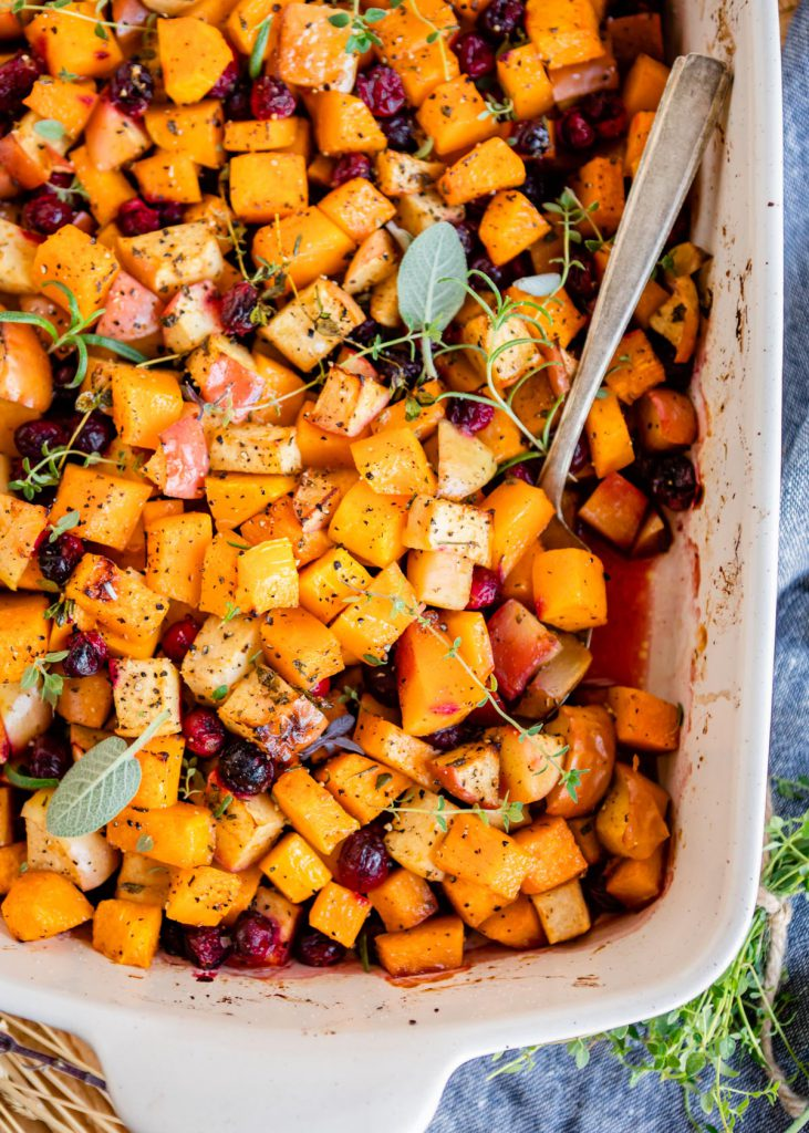 Butternut Squash Bake with Cranberries and Apples | CafeJohnsonia.com