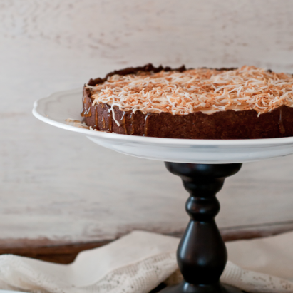 vegan gluten-free coconut cream tart
