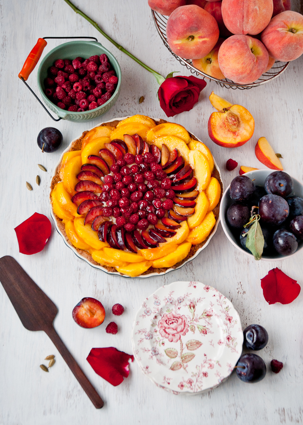 Summer Custard Tart with Gluten-Free Crust | CafeJohnsonia.com