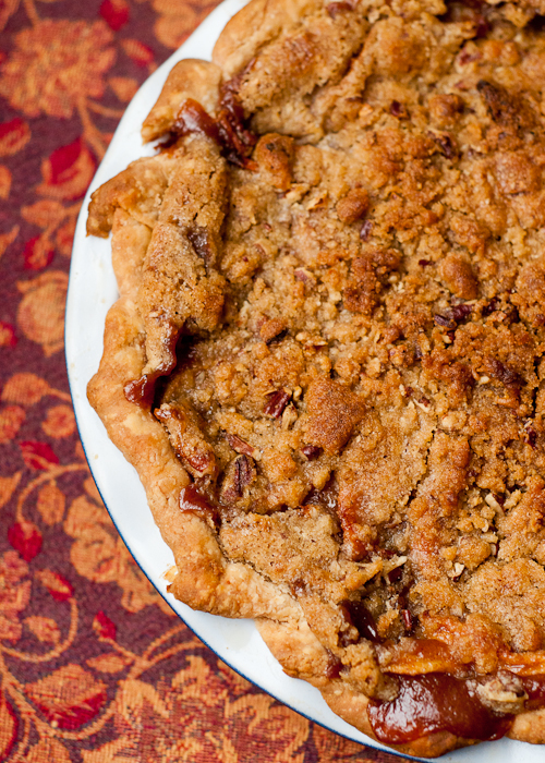 Brandied Apple Pie with Brown Sugar Pecan Streusel
