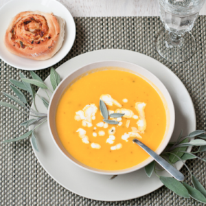 Butternut Squash Soup with Apples and Fresh Sage   Cafe Johnsonia