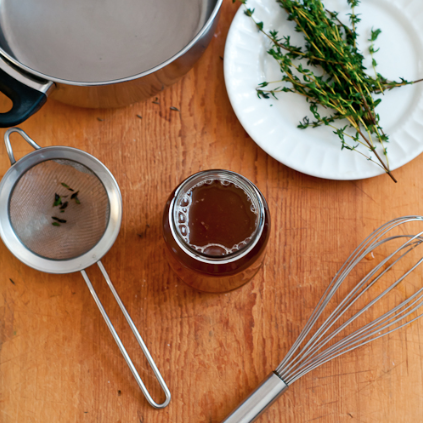 DIY Honey Thyme Cough Syrup