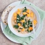 hearty kale butternut barley soup
