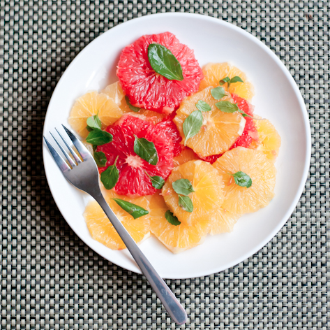 citrus salad with lemon mint and honey