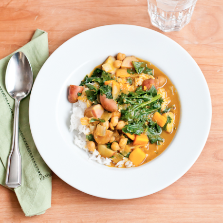 vegan banana squash coconut curry