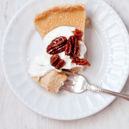 gluten-free maple custard tart