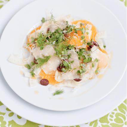 fennel and orange salad with kalamata olives