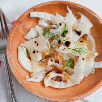 Shaved Fennel Salad with Parmigiano and Balsamico - Cafe Johnsonia