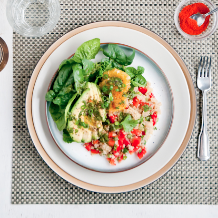 citrus quinoa salad with cilantro-lime vinaigrette