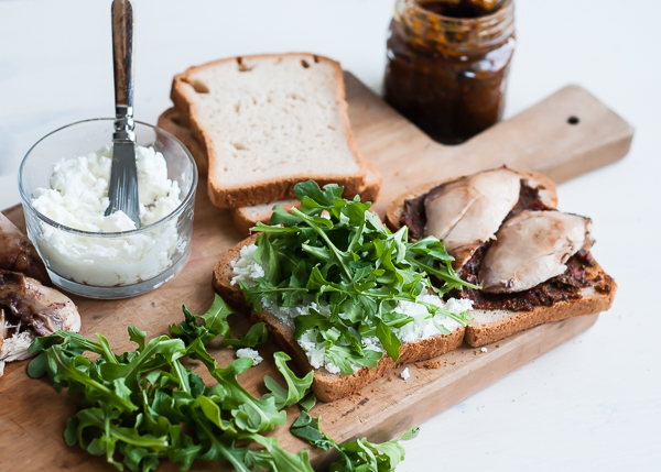 arugula on chicken sandwich