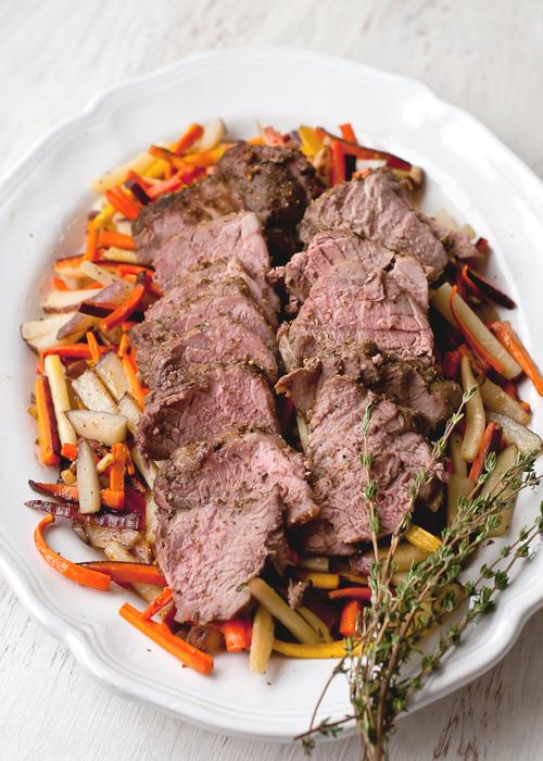 pork tenderloin with roasted root vegetables