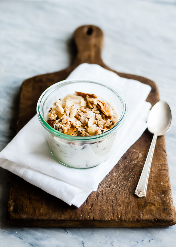 vegan gluten free tropical granola
