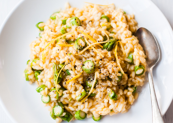 Vegan Risotto with Lemon and Asparagus | CafeJohnsonia.com #vegan