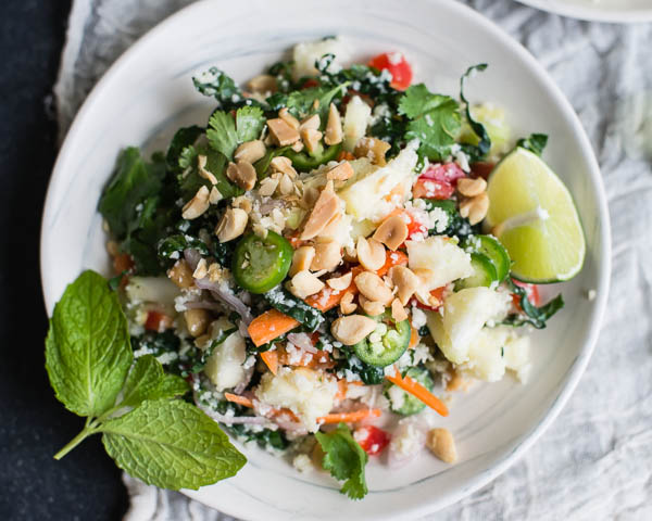 Vegan Thai Cauliflower Rice Salad