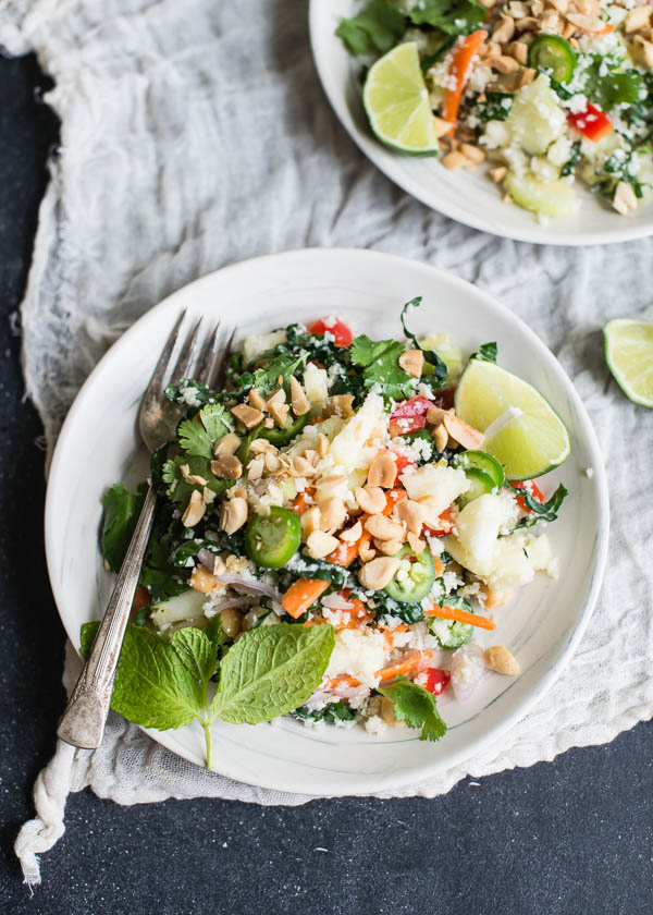 Vegetarian Thai Cauliflower Rice Salad