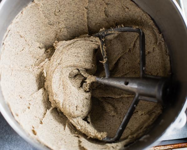mixed buckwheat bagel dough