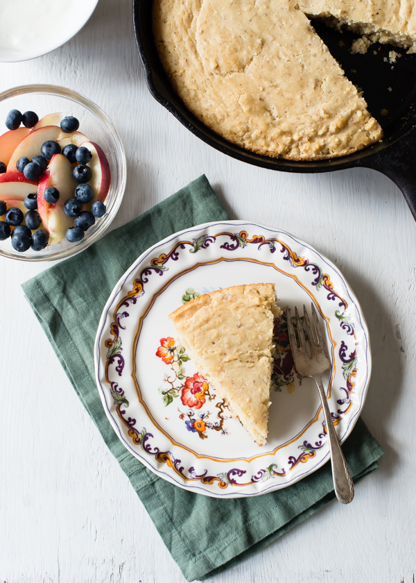 Gluten-Free Grilled Skillet Cake with Fruit-3