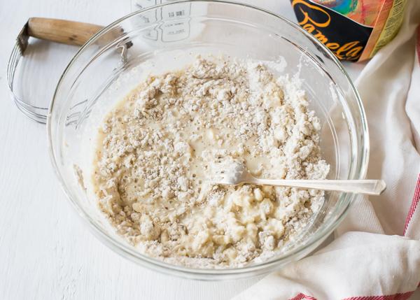 gluten-free skillet cake batter