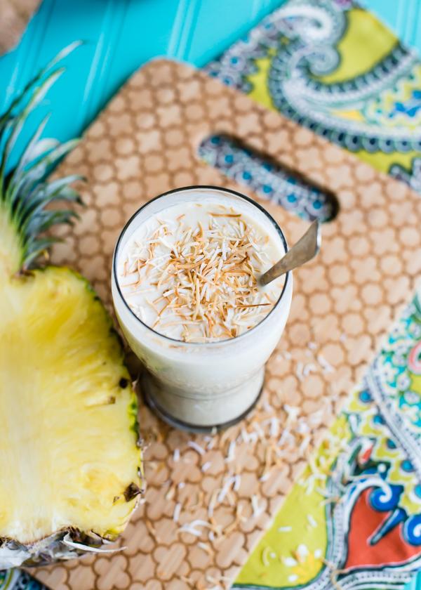 roasted pineapple coconut milkshake