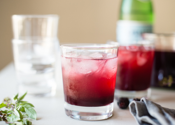 blackberry basil kombucha shrub-2