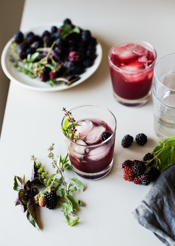 blackberry basil kombucha shrub-8