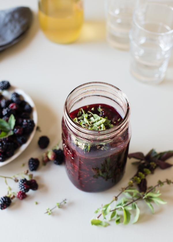 blackberry basil kombucha shrub syrup