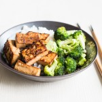 marinated tofu with broccoli