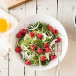 kale berry salad with fennel and hemp