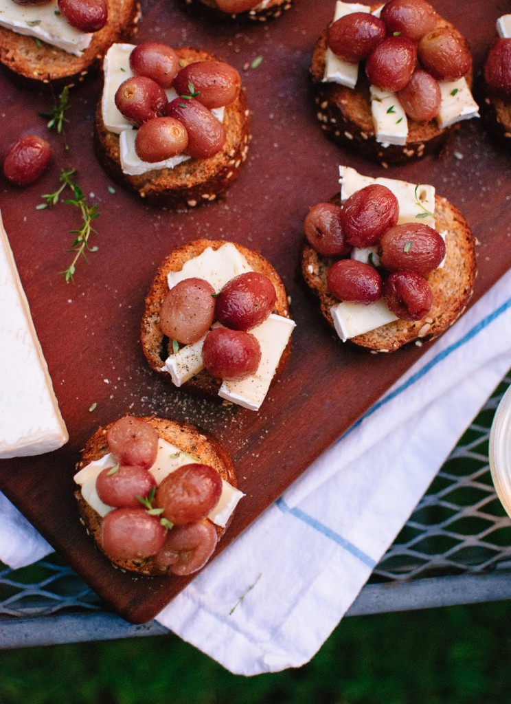 Roasted Grape Crostini with Brie and Thyme from Cookie and Kate.