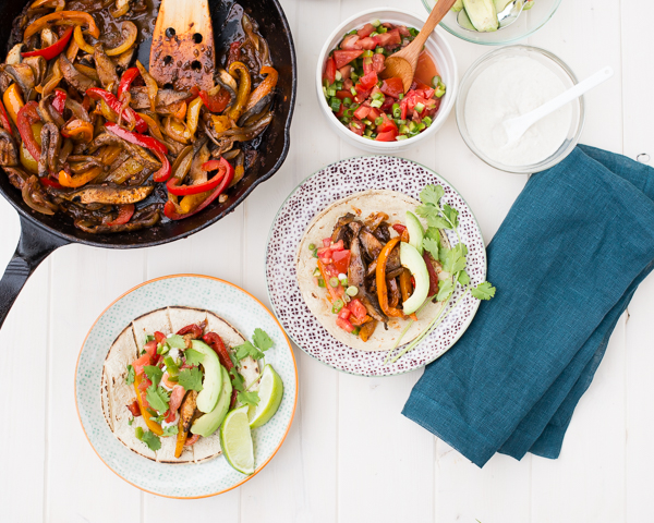 Gluten-Free Vegan Portobello Fajitas with Bell Peppers