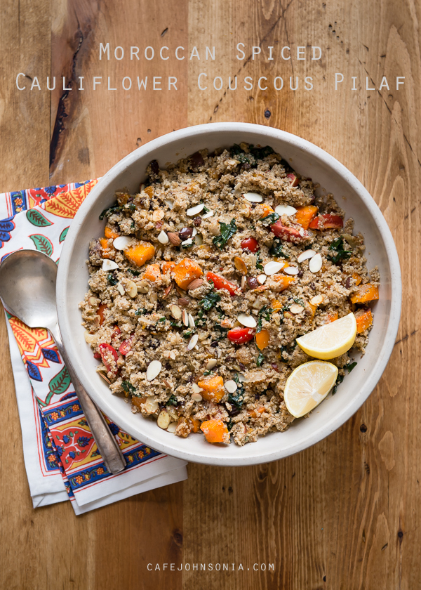 Moroccan Spiced Cauliflower Couscous Pilaf