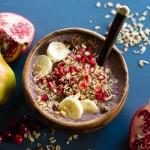 Pear Cranberry Pomegranate Acai Bowl-3