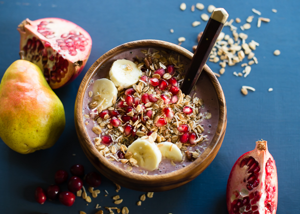 Pear Cranberry Pomegranate Acai Bowl-3