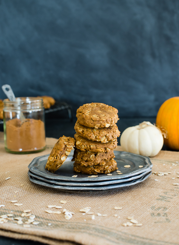 Pumpkin Oatmeal Molasses Cookies