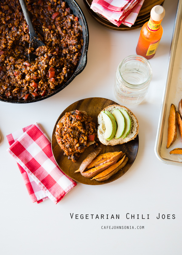 Vegetarian Chili Sloppy Joes