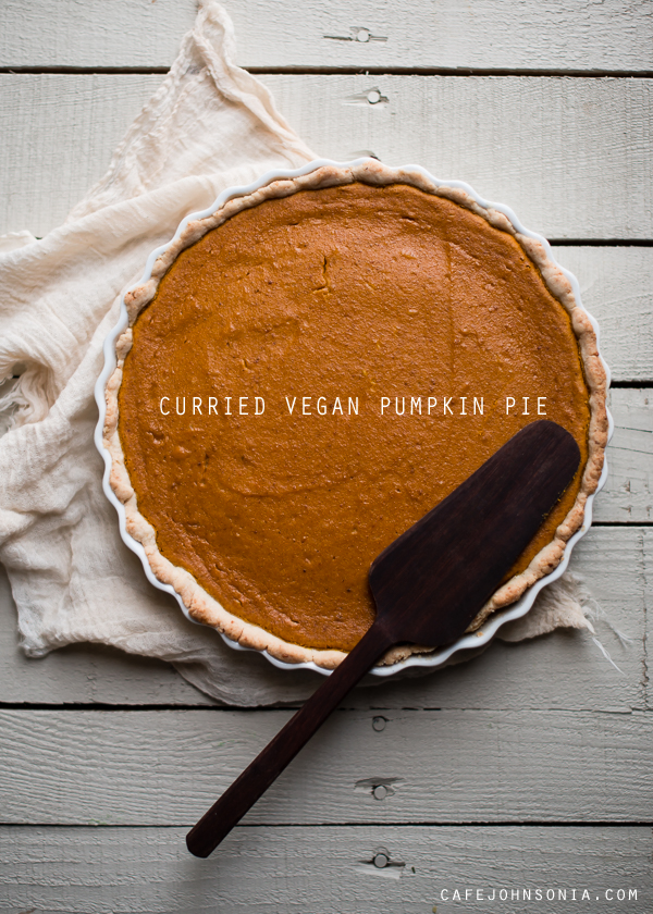 Curried Vegan Pumpkin Pie