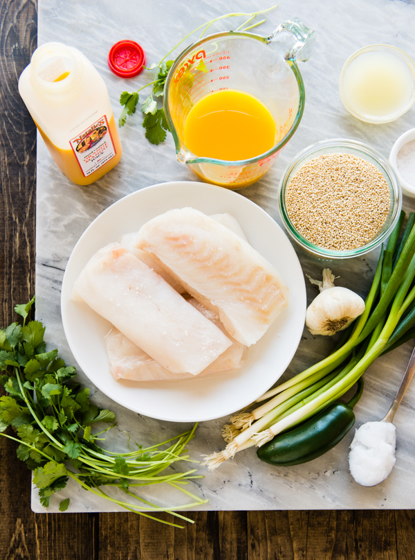 Orange Mango Braised Fish Ingredients-3