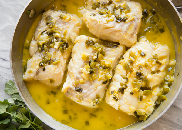 Orange Mango Braised Fish