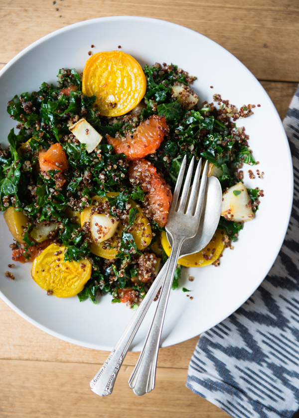 Quinoa Grapefruit and Golden Beet Salad-2