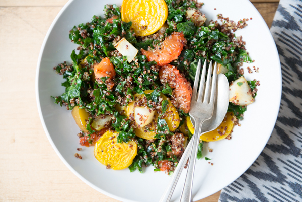 Quinoa Grapefruit and Golden Beet Salad-5