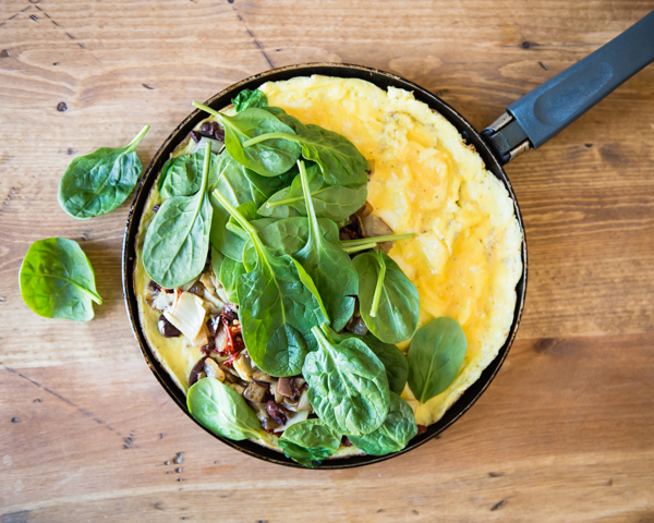 Mediterranean Omelet For Two