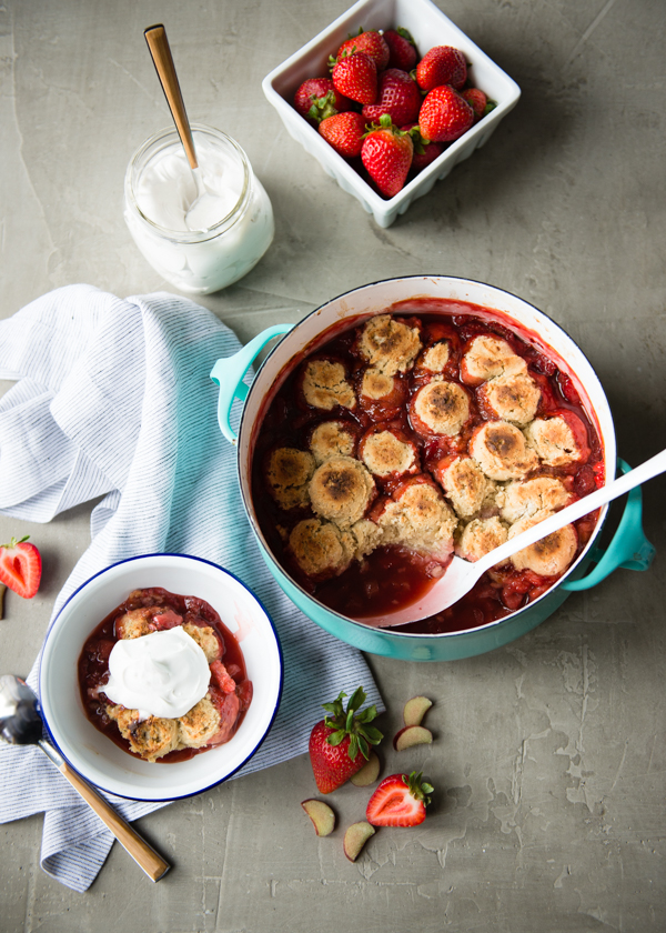 Gluten Free Strawberry Rhubarb Cobbler-7