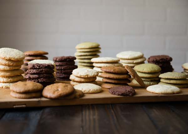 5 Varieties Gluten-Free Cookies Stacked-2
